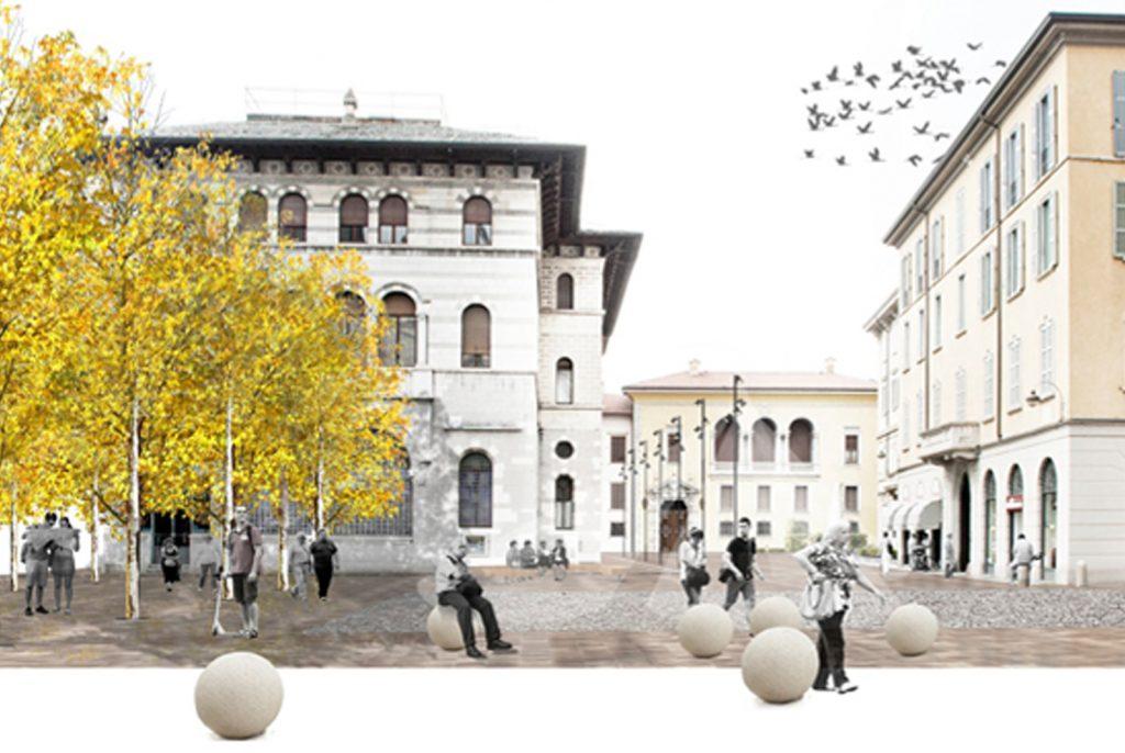 Piazza Grimoldi e Piazza Roma